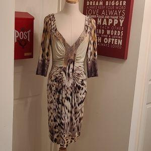 Roberto Cavalli Patterned Knit Dress